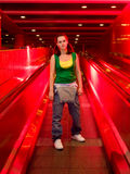 Underground girl Stock Photography