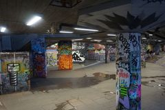 Underground graffiti park, London special. stock image