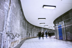 Underground Grunge metro corridor - rush hour Stock Photos