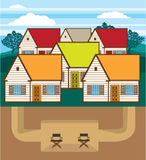 Underground hideout vector Royalty Free Stock Photography