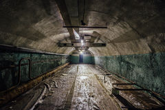 Underground hospital in a large abandoned Soviet bunker. Under Sevastopol Royalty Free Stock Photo