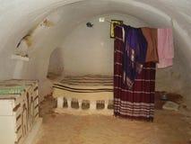 Underground house. In Sahara desert, Tunisia Stock Photos