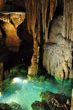 Underground lake in the cave Stock Images