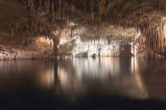 Underground lake in Dragon cave Cuevas del Drach, Mallorca, Spain. Underground lake in Dragon cave Cuevas del Drach, Mallorca, Balearic islands, Spain Royalty Free Stock Photos