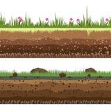 Underground layers seamless background vector illustration