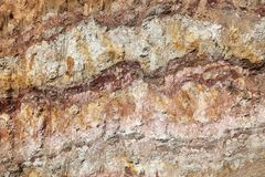Underground layers of the earth. Beautiful texture. Underground layers of the earth. Beautiful background stock photography