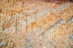 Underground layers of the earth. Beautiful texture. Underground layers of the earth. Beautiful background stock image