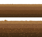 Underground layers of earth, seamless ground surface design. Stock Photo