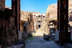 The underground level at the Colosseum in Rome Royalty Free Stock Photography
