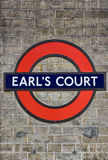 Underground Logo of Earls Court Station Royalty Free Stock Images