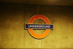 Underground London. Famous Underground London - England - UK Royalty Free Stock Photos