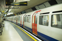 Underground in London. Railcar in subway Royalty Free Stock Image