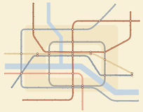 Underground map Stock Image