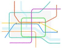Underground map Royalty Free Stock Images