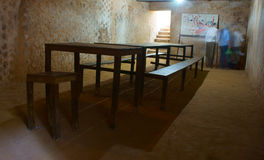 Underground meeting room at Cu Chi tunnel Royalty Free Stock Photos