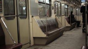 Underground metro. People go about their business 10.02.2017 Kiev Ukraine stock video footage