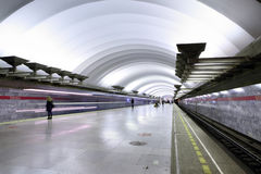 Underground Metro station, subway Saint Petersburg Stock Images