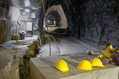 Underground mine in the Apuan Alps,  Royalty Free Stock Image