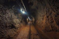 Underground mine passage angle shot royalty free stock photos