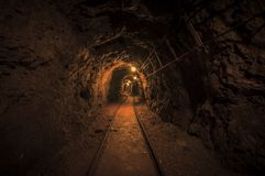 Underground mine passage Royalty Free Stock Photos