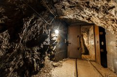 Underground mine passage Stock Photos