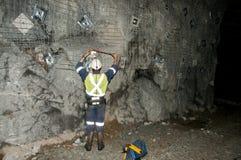 Underground Mine Surveyor. In Australia royalty free stock photography