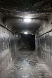 Underground mine tunnel Royalty Free Stock Photography