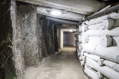 Underground mine tunnel Stock Photos