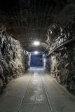 Underground mine tunnel Stock Photo