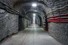 Underground mine tunnel Royalty Free Stock Photo