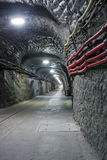 Underground mine tunnel Stock Photography