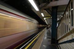 Tube london. Underground moviment  london Royalty Free Stock Photo