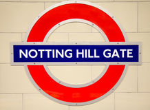 Underground Notting Hill tube station in London Stock Images