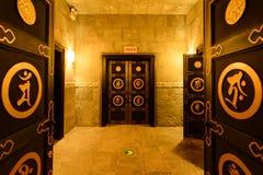 Underground palace portrait Royalty Free Stock Image