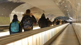 Underground in Paris. Time Lapse stock footage