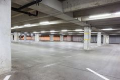 An underground garage Royalty Free Stock Photos