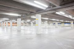 An underground garage Royalty Free Stock Image