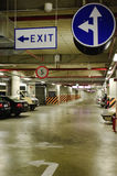 Underground parking. In the basement of a mall Stock Photos