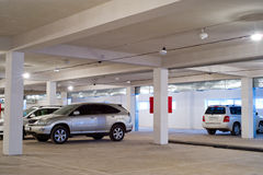 Underground parking. With some cars in it Royalty Free Stock Photo
