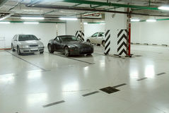 Underground parking. Of cars a Royalty Free Stock Photos