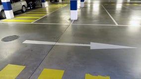 Underground parking Stock Image
