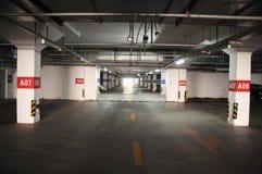 Underground parking. A underground parking garage in china Royalty Free Stock Photos