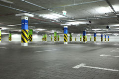 Underground parking. In apartment house or in supermarket Royalty Free Stock Photo