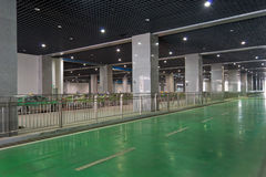 Underground parking. Modern  underground  parking of new chengdu east railway station at chengdu,china Stock Image