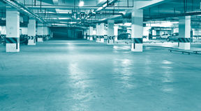 Underground parking. Night view of modern underground parking Stock Photo