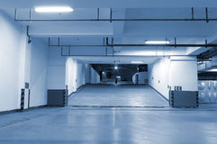 Underground parking. In the night Royalty Free Stock Image