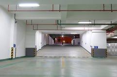 Underground parking. In the night Stock Photos