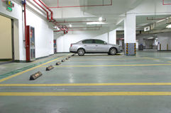Underground parking. In the night Stock Images