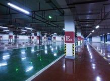 Underground parking. Has not yet started operating underground parking Stock Images