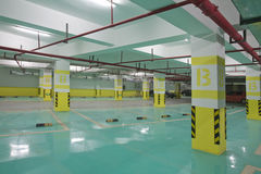 Underground parking. Half empty underground garage or parking Royalty Free Stock Images